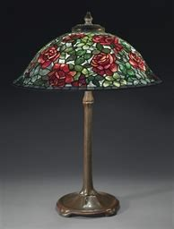 tiffany studios  rose table lamp circa  christies