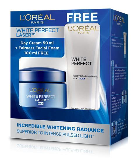 Loreal White 1 l oreal white laser day 50ml with free fairness foam 100ml buy l