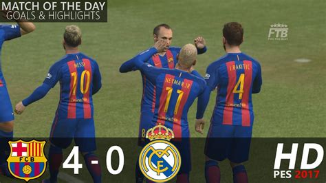 real madrid vs barcelona highlights 0 4 goals video fc barcelona vs real madrid 4 0 all goals