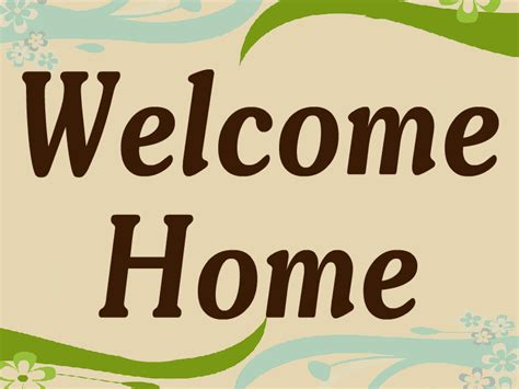 welcome sign template welcome home templates