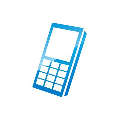 cell phone blue light blue phone icon clipart best