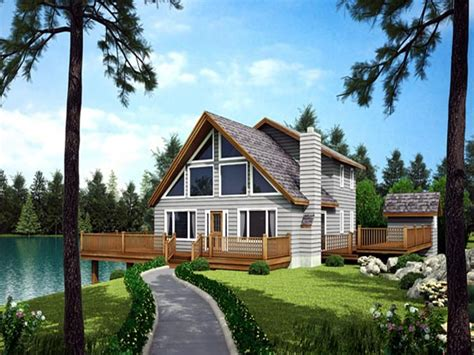 Waterfront Homes House Plans Waterfront House with Narrow