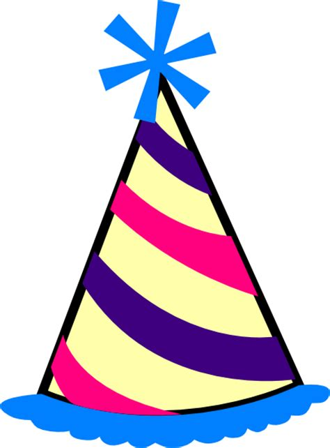 birthday hat birthday hat blue purple pink yellow clip at clker vector clip