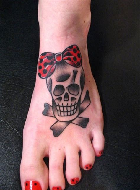 pretty foot tattoo designs 50 cool skull tattoos designs pretty designs
