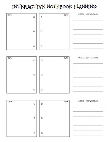 School Of Fisher Interactive Notebook Planning Interactive Notes Template