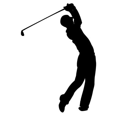 golf swing silhouette vector golf cliparts co