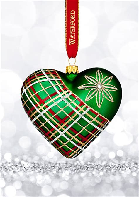 waterford holiday heirlooms nostalgic collection waterford 2017 heirloom nostalgic collection plaid ornament