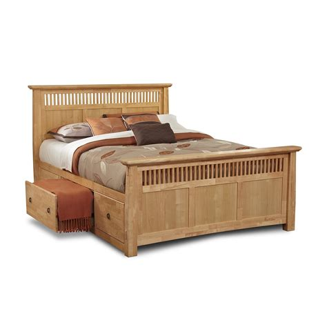 queen bed drawers modern varnished pine wood queen bed frame with drawers of