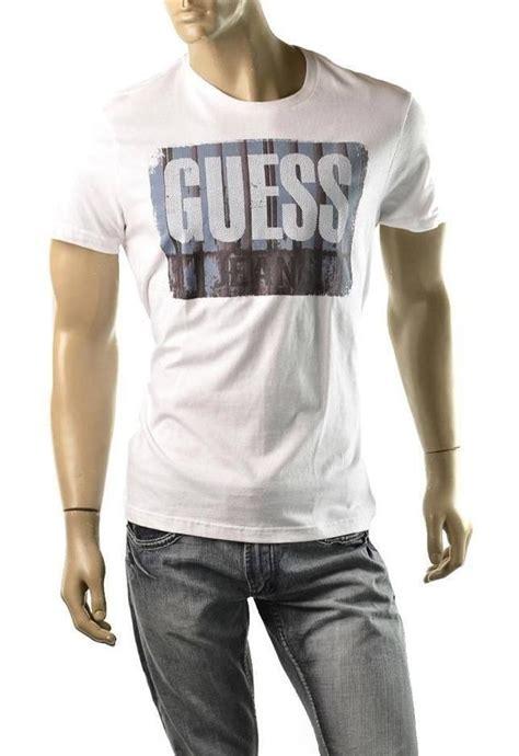 T Shirt Fresh White B C guess t shirt mens fresh logo sleeve crew size l