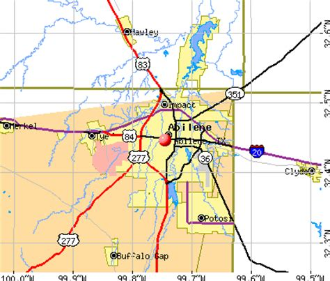 abilene map usa abilene map and abilene satellite image