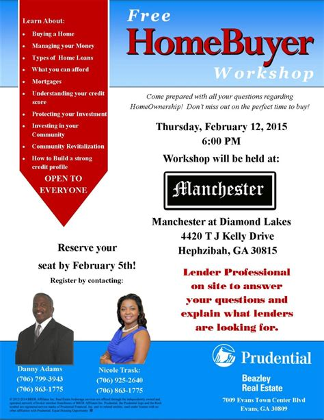 Free Time Home Buyer Workshop by Prudential Beazley Real Estate Announces Their Homebuyer