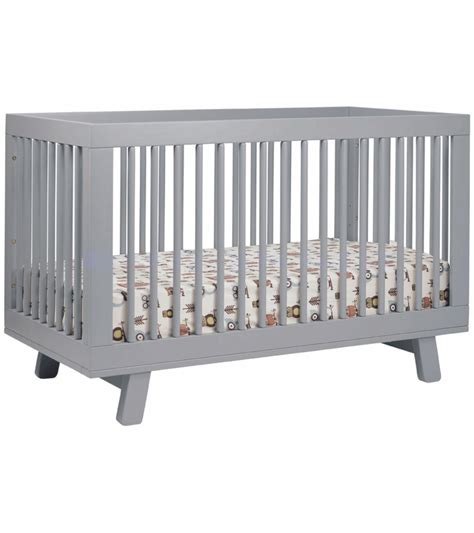 Crib Converter Babyletto Hudson 3 In 1 Convertible Crib With Toddler Bed Conversion Kit In Grey Finish