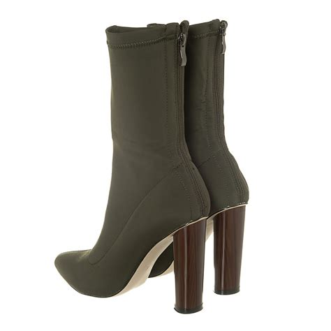 ankle boot heels high block heel pointed toe lycra ankle boot miss
