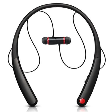 Earphone Bluetooth Dengan Neckband Magnetic wireless bluetooth headphones bestonly magnetic sweatproof running neckband headset with mic