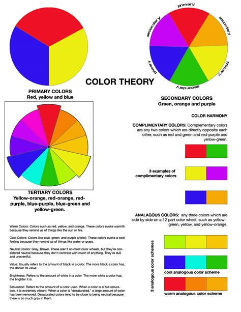 color theory worksheet free worksheets library