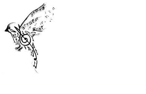 bird music notes tattoo designs musical bird design tattooshunt
