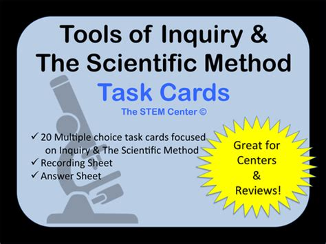 Task Card Template Pdf by Scientific Method Task Cards By Us Lessons Tes