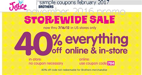 Printable Justice Coupons 2017 | printable coupons 2017 justice for girls coupons