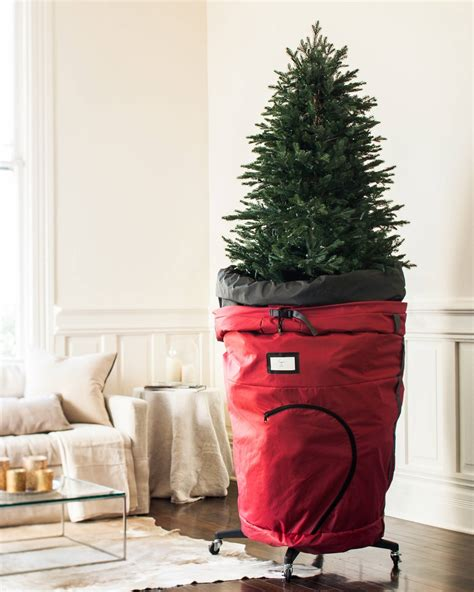 rolling christmas tree storage bag balsam hill