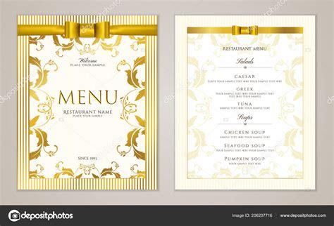 cornici menu modello menu ristorante design con cornice oro bordo