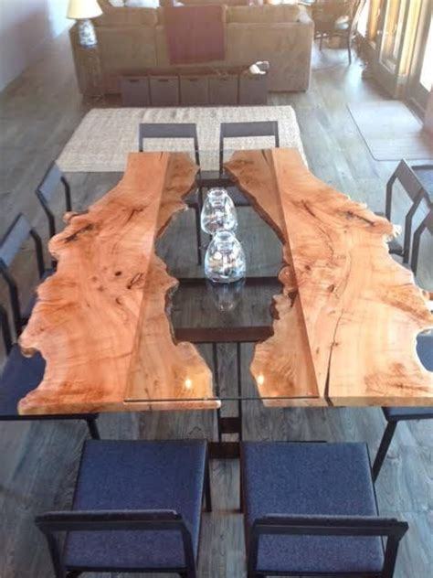 live edge table with glass and poplar burl timber salvabrani live edge table with glass and poplar burl timber salvabrani