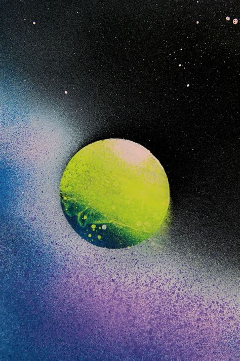 spray paint in a minute how to spray paint planets galaxy a of rainbow