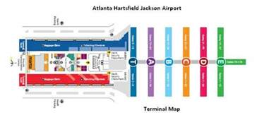 Atlanta Terminal Map by Atl Terminal Map Images Frompo