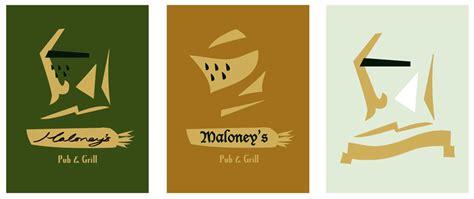 Asian Designs irish pub logo freelance illustrator children s