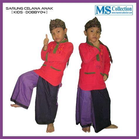 Baju Koko Anak Celana Sarung Salur Bml1258 4 6 jual sarung celana anak dobby04 harga murah bogor oleh toko ms collection