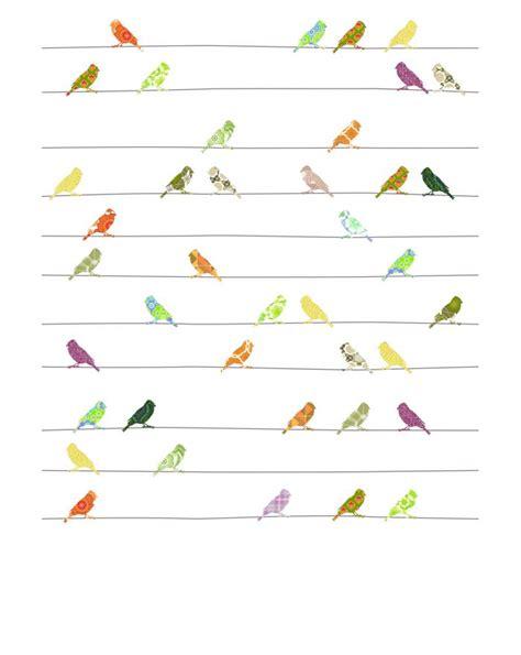 Birds Wall Sticker papier peint vintage chambre enfant design disponible www