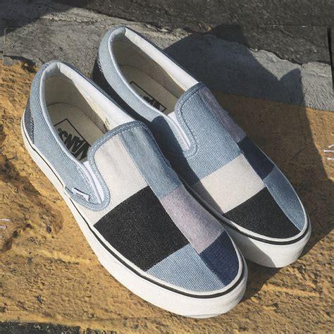 sepatu vans slip denim 03 vans patchwork denim pack release date sneaker bar detroit