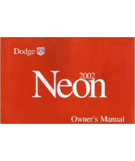2002 dodge neon owners manual