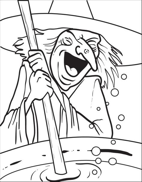 coloring page witch witch coloring page 5 halloween coloring free