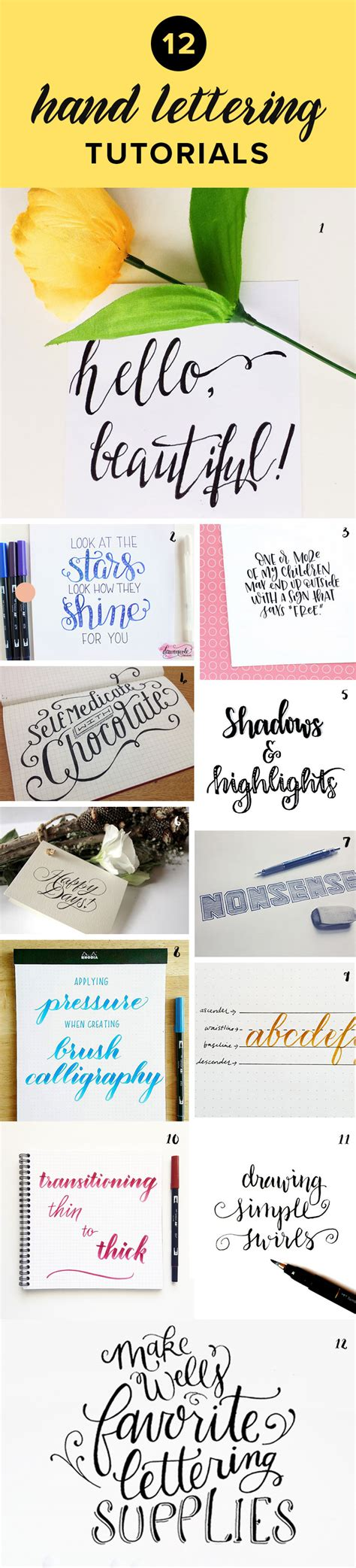 free tutorial hand lettering 24 awesome hand lettering tutorials