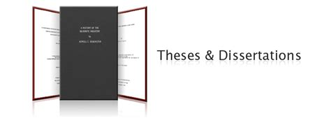 dissertations and theses theses and disertations institutional repository the
