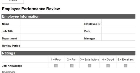 Personnel Recruitment Employee Performance Evaluation Form Recruiter Performance Review Template