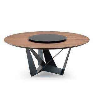 Round Wooden Table by Cattelan Italia Skorpio Round Wood Table Dining Table