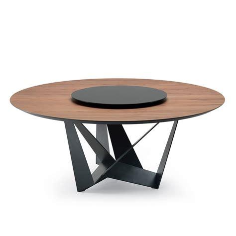 round wood dining table cattelan italia skorpio round wood table dining table
