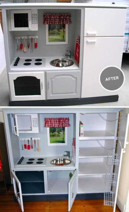 Old Stereo Cabinet To Toy Kitchen Diy Pinterest Kitchen Stereo Cabinet