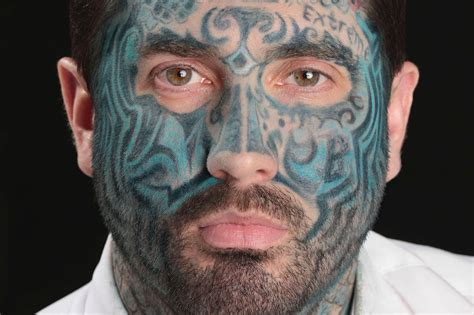 tattooed face