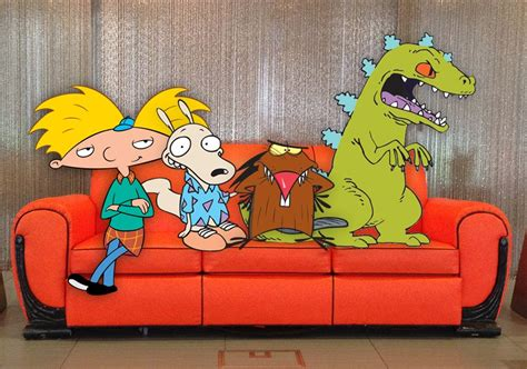 nickelodeon orange couch nickelodeon the splat is here launched today