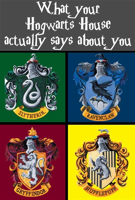 houses in harry potter hogwarts on pinterest