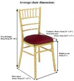 average wedding chair dimensions manufacturers and