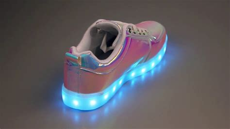 free light up shoes cyberdog rgb light up holographic shoes youtube