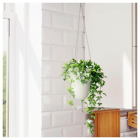 ikea planters skurar hanging planter in outdoor off white 12 cm ikea