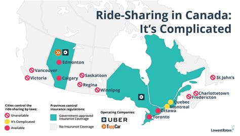 how many towns are in the us ride sharing in canada it s complicated lowestrates ca