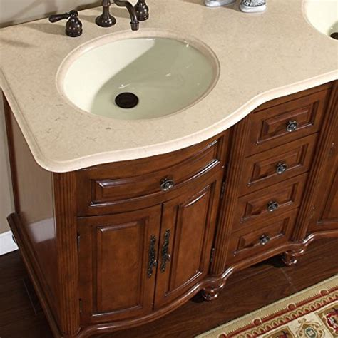55 inch double sink bathroom vanity silkroad exclusive marble stone top double sink bathroom vanity with cabinet 55 inch