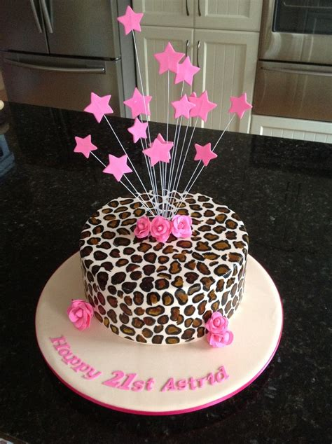 leopard birthday cake 21st birthday cake in leopard print my cakes