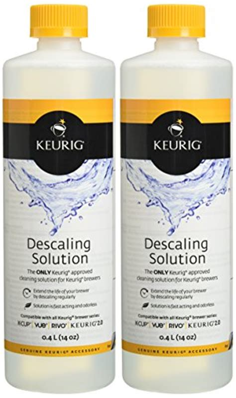 keurig 14 ounce descaling solution bundle with a truck