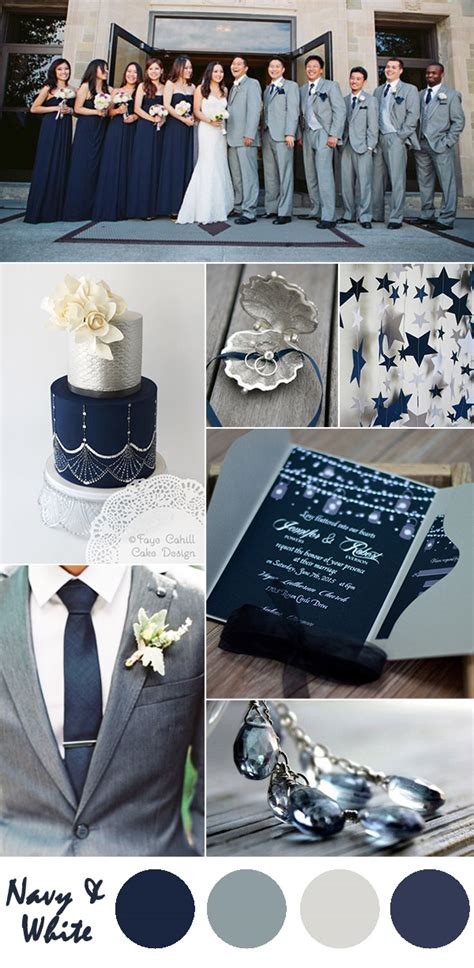colour themes grey ten most gorgeous navy blue wedding color ideas page 2